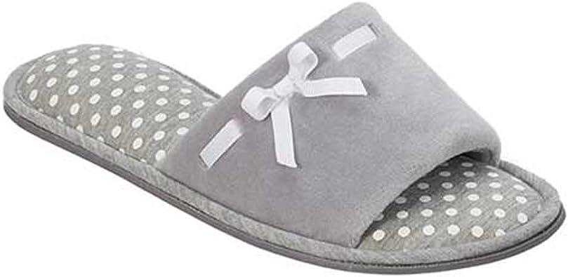 grey open toe slippers