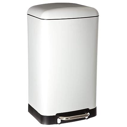 Brabantia Wasbox 50 Liter Matt Steel.Jja 30l Matte Finish Metal Bin Soft Close Wide Pedal Colour White