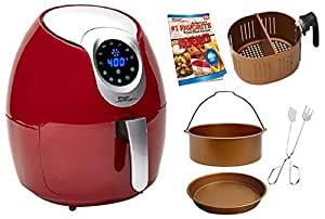 Power Air Fryer XL 3.4 QT Red Deluxe - Turbo Cyclonic