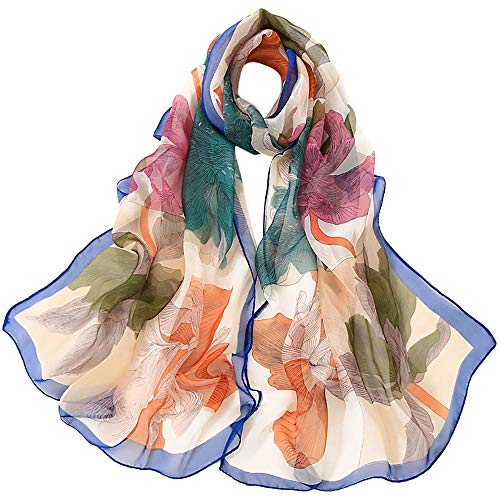 - 4 PCS 50s Satin Neck Scarf Dots Floral Striped Small Square Neckerchief Headbands Head Scarf for Women Girl