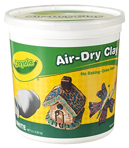 Crayola Air-Dry Clay, White, 5 lb. Resealable Bucket, Great for Classroom, Educational, Art (Dry Clay)