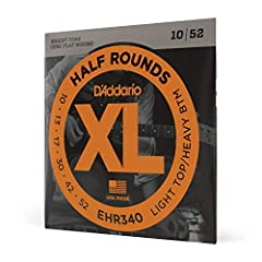 """Half Round Electric Guitar Strings are round wound with Stainless Steel and then precision ground leaving the outer surface smooth and """"semi flat."""" The result is a string with the tonal characteristics of round wound strings ,with the smooth ..."""