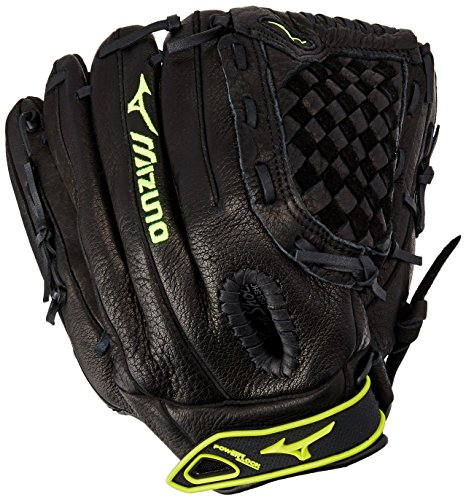 Mizuno GPL1200F1 Prospect Fastpitch Series Right Handed Throw Youth Softball Mitt, Black, 12.00-Inch - Softball Glove For Girls 12