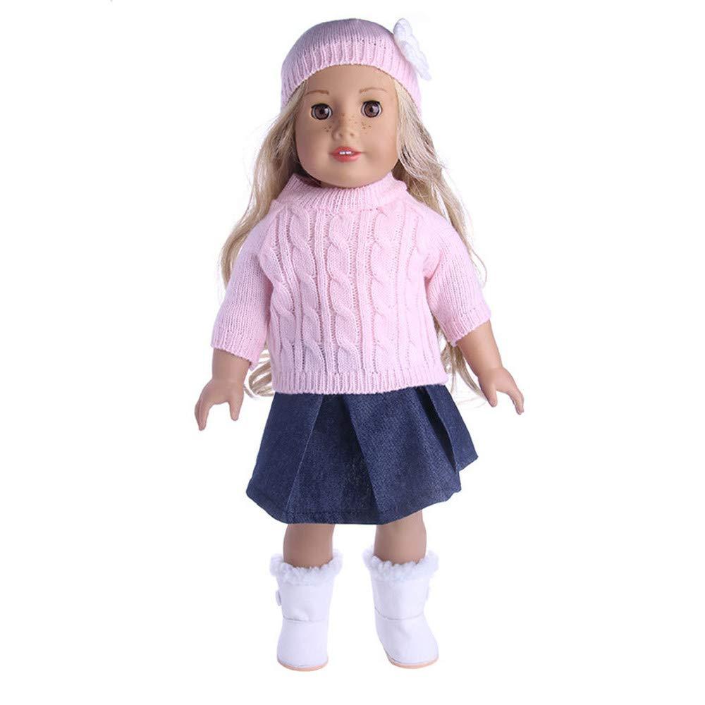 新しいコレクション callm 18インチ人形アクセサリー セーター玩具 セーター玩具 人形用衣装 ワードローブ 18インチのアメリカンガール人形用 ピンク ワードローブ B07JGT929D callm ピンク ピンク, firstport e.shop:402f8255 --- beyonddefeat.com