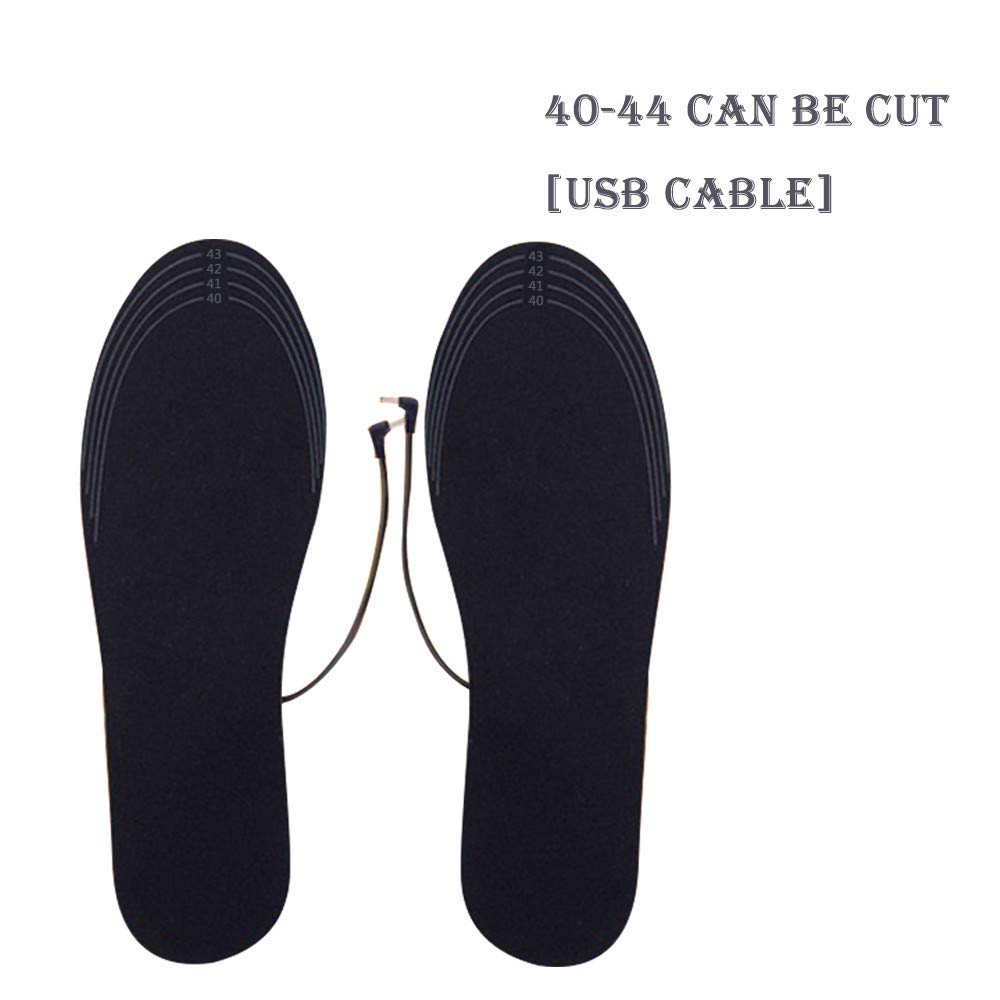 iumei USB Heating Insole, USB Charging Electric Heated Insoles Pad Shoes Boots Heater Keep Feet Warm (B-Men)