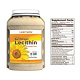 Lekithos® De-Oiled Sunflower Lecithin Powder - 3LB - Rich in Phosphatidyl Choline - Non-GMO Project Verified - Soy Free