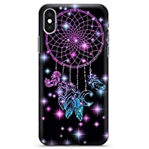 iPhone 10 Case, iPhone X Case, Midnight Dream Catcher Phone Case by Casechimp® | Clear Ultra Thin Lightweight Gel Silicon TPU Protective Cover | Lotus Dream Catcher Dormeo Teepee Love