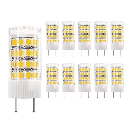 DiCUNO G8 LED Bulb, 4W Warm White 3000k, Under Cabinet Counter Light, 40w Equivalent Halogen Replacement,10Pcs, Note: Must Check Size Before Purchase (See Picture ()