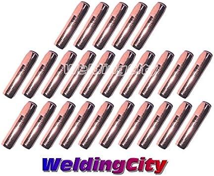 25 Contact Tips 7490 0.045 for Bernard Q//S MIG Welding Guns