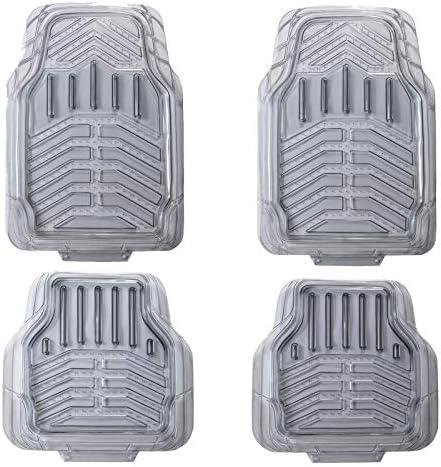 August Auto All Weather Transparent Set of 4pcs Universal Fit Deep Tray Car Floor Mats Fit for Sedans, SUVs, Trucks, Vans