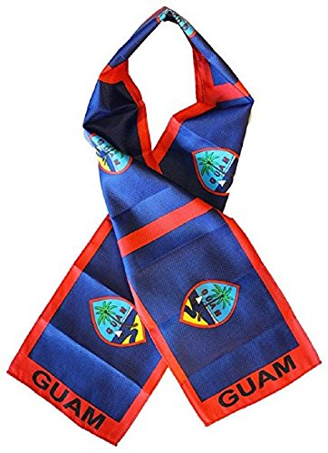 Guam Country Lightweight Flag Printed Knitted Style Scarf
