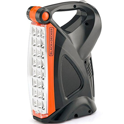Black & Decker LE4 Flip Style Lantern Emergency LED Flash Light, 220 Volts (Not for USA - European Cord)