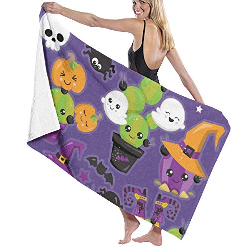 Judascepeda Beach Bath Towel Style Halloween Cactus Clipart Bath Towels for Men Women -