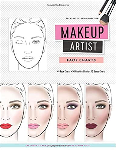 Makeup artist face charts the beauty studio collection gina m