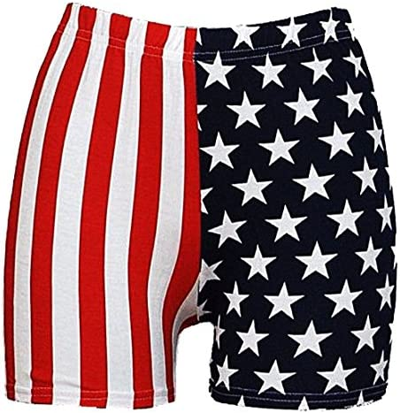 Ladies Women American USA Flag Stars/&Stripes Leggings,Cycling Shorts/&MINI shorts