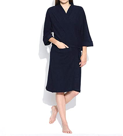 193dfe61e6 Buy Linenwalas Super Comfort Unisex Bath Gown Night Gown Pollar Fleece  Plain Bath Robe - Navy Blue - Kids Size Online at Low Prices in India -  Amazon.in