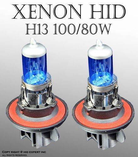 Tutti Racing H13 9008 100/80W x2 pcs Hi/Lo Beam Xenon HID White Replace Light Bulbs