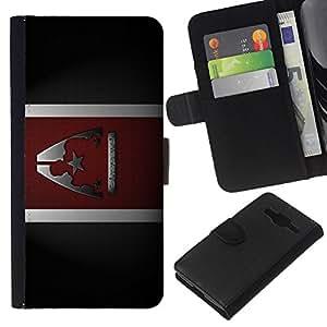A-type (Comandante Sheppard) Colorida Impresión Funda Cuero Monedero Caja Bolsa Cubierta Caja Piel Card Slots Para Samsung Galaxy Core Prime