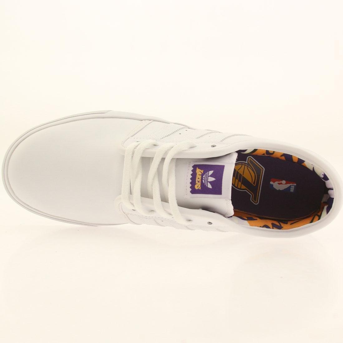 adidas skateboard uomini seeley nba bianco / oro / regale viola