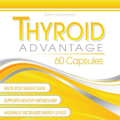 Avantage de la thyroïde - Supplément thyroïde Formulé avec de l'iode (de varech), sélénium, L-Tyrosine, Varech, et plus pour aider à augmenter l'énergie, stimuler le métabolisme, et la perte de poids de l'aide