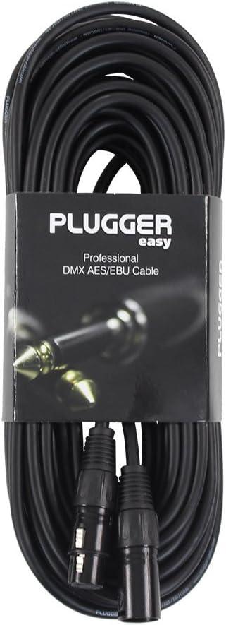 Plugger C/âble XLR femelle 3b//m/âle 3b 1,50 m Noir