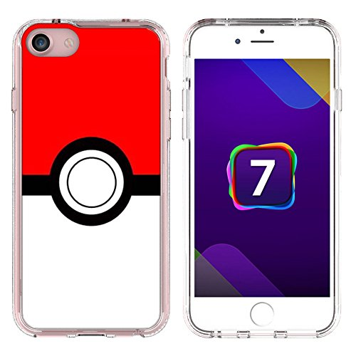 BRILA® iphone 7 pokemon case, poke ball style case for iphone 7, iphone 7 pokemon go case Photo