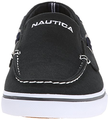 Nautica Mens Doubloon Canvas Loafer Svart / Grå