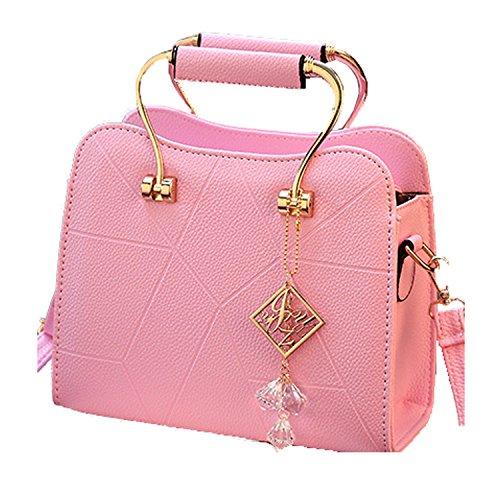 JUND - Bolso mochila para mujer Rojo rojo Rosa