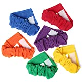 ToySharing 3 Legged Race Bands 6 Pack Durable Three Legged Race Bands Firm Soft Elastic Colorful 3 Leg Race Band for Kids Adult Outdoor Fun