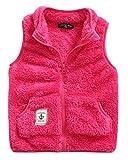 Baby Girls Winter Vest High Neck Stand Collar