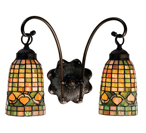 Tiffany Style Stained Glass Acorn Light Wall ()