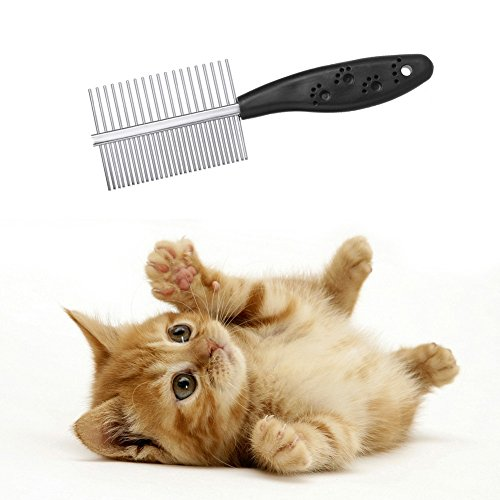 Anti-static Pets Hair Grooming Two-sized Dense Comb - 1
