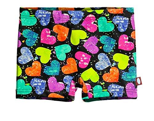 Splatter Heart - City Threads Girls' Swimming Suit Bottom Boy Short, hearts Splatter, 12