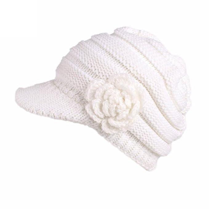 DEELIN Mujer Mujeres Invierno Sombrero De Tejer Boinas Turbante ...