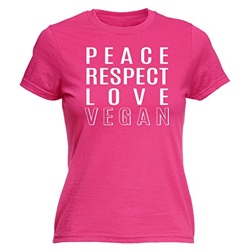 123t Women's Peace Respect Love Vegan Funny T Shirt Sarcasm Tee Joke Top Humour Food Chef Slogan Vegetarian Hippy Birthday Gift Christmas Present FITTED T-SHIRT (Grandmas Little Chef compare prices)