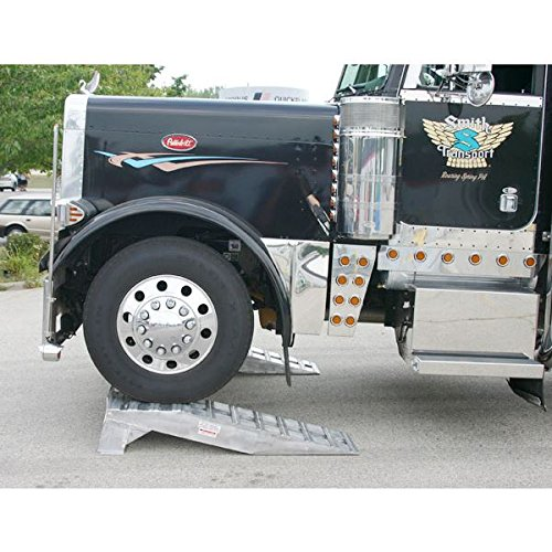 Pair of Aluminum Semi Truck Wheel Riser Service Ramps by Rage Powersports (Image #3)
