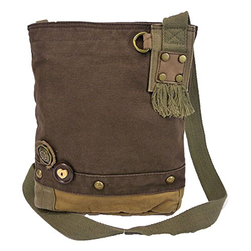 Brown Body Cross Canvas Messenger Bag Chihuahua Handbag Dark Patch Chala Women SYEnq