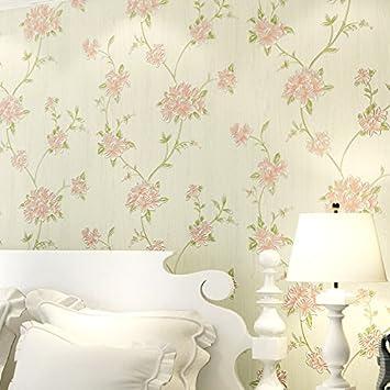 Vliestuch Tapete Warm Und Romantisch Schlafzimmer Garten Bett Wandtapete  Koreanisch Stil Europäischen Stil Rosa Ehe