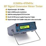 KKmoon RF Signal Generator, 0.5MHz-470MHz RF Signal Generator Meter Tester for FM Radio Walkie-Talkie Debug Digital CTCSS Singal Output