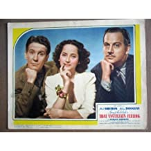 GL42 That Uncertain Feeling MERLE OBERON Lobby Card. This is a lobby card NOT a video or DVD. Lobby cards were displayed in movie theaters to advertise the film. Lobby cards measure 11 by 14 inches.