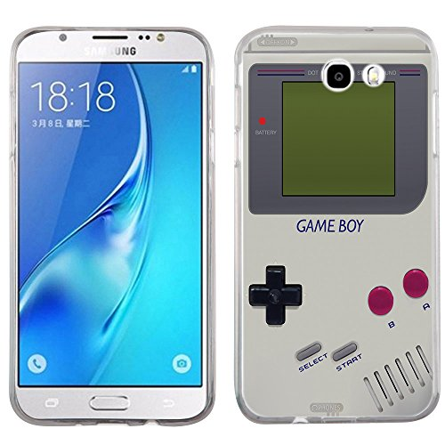 (Galaxy J7 Prime case - [Retro GameBoy] (Crystal Clear) PaletteShield Soft Flexible TPU gel skin phone cover (fit Samsung Galaxy J7v/ J7 Perx/ J7 Sky Pro/ J7 Prime/ J727))