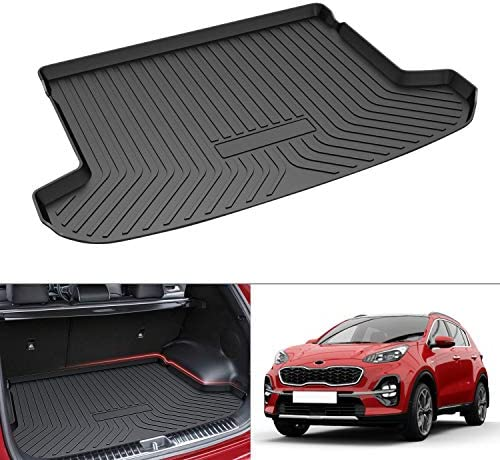 Mixsuper Cargo Liner for 2021 Sportage TPO All Weather Rear Durable Odorless 3-D Trunk Floor Mat Custom Fit for KIA Sportage 2017-2020