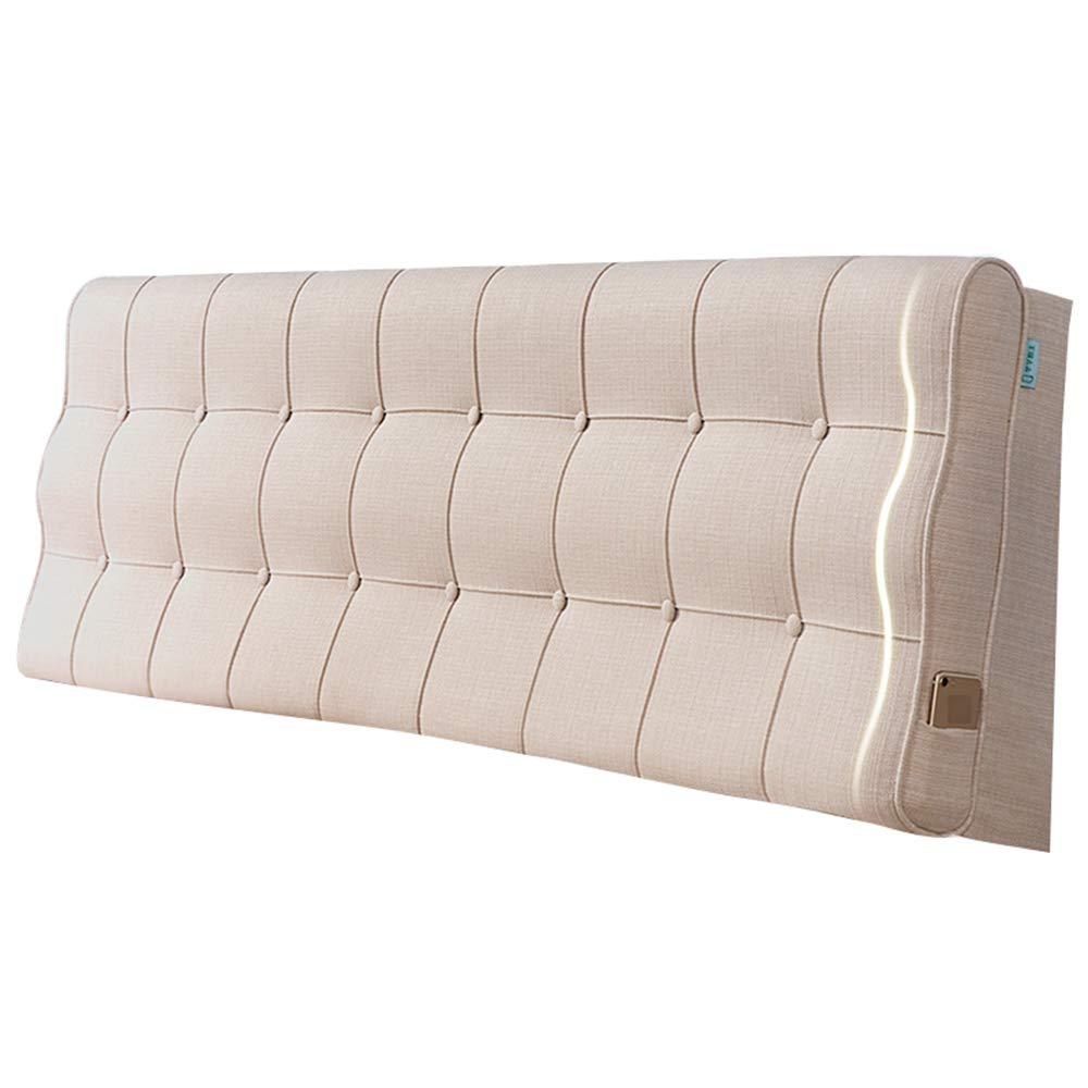 Linen 90×10×60CM Upholstered Headboard for Bed Wedge Head Board Cushion Pillow Divan Backrest Bedroom Double Single Linen Fabric Sponge Filling