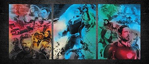 3 Part Avengers Infinity War Metal Poster Spray Paint Art