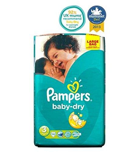 パンパースベビードライおむつサイズ3大Ba70おむつ (Pampers) (x2) - Pampers Baby-Dry Nappies Size 3 Large Ba70 Nappies (Pack of 2) [並行輸入品]   B01N01WIAZ