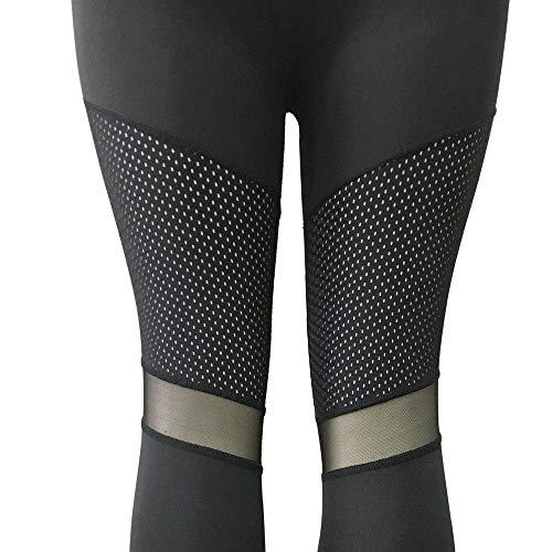 Vita Palestra Sportivo Yoga Pantaloni Alta Donna Fitness Nero Lianmengmvp Abbigliamento Sportivi Leggings Da TYnq8xp