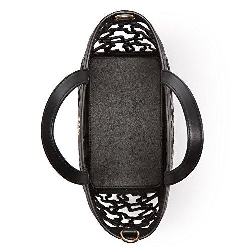 Tous Damen Kaos Shock Pequeña Tote, Schwarz (Black), 14x21x28 centimeters