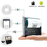 ZKTeco Mini Wireless Bluetooth Printer/Thermal Receipt Printer/Portable Personal Printer,80mm Pocket Mobile POS Compatible with Android & IOS & Windows & Linux systems and ESC/POS/STAR Print Com