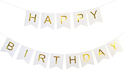 Black Happy Birthday Letters Banner Birthday Bunting Garland Party Decorations Celebration Supplies