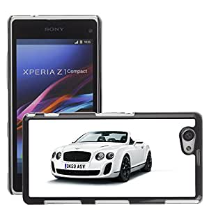 CarCase Slim Case Cover Backcover Frame Shell Sony Xperia Z1 Compact // bentley continental supersports convertible //